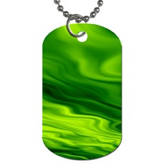 Green Dog Tag (Two-sided)