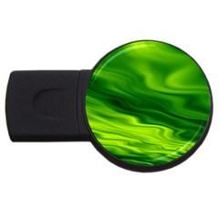 Green 1GB USB Flash Drive (Round)