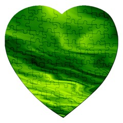 Green Jigsaw Puzzle (heart)