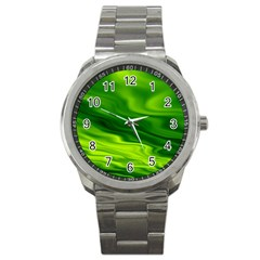Green Sport Metal Watch