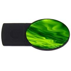 Green 4GB USB Flash Drive (Oval)