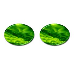 Green Cufflinks (oval)