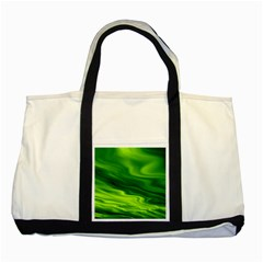 Green Two Toned Tote Bag