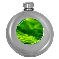Green Hip Flask (Round)