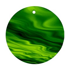 Green Round Ornament (two Sides)