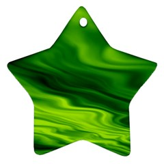 Green Star Ornament (Two Sides)
