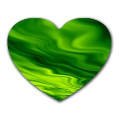 Green Mouse Pad (heart)