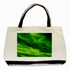 Green Twin-sided Black Tote Bag