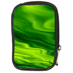 Green Compact Camera Leather Case