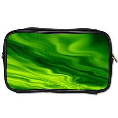Green Travel Toiletry Bag (Two Sides)