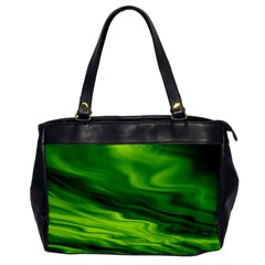 Green Oversize Office Handbag (One Side)