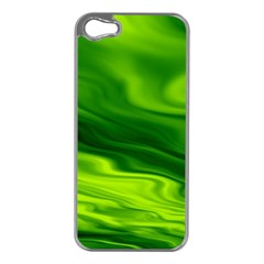Green Apple iPhone 5 Case (Silver)