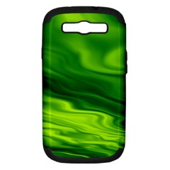 Green Samsung Galaxy S III Hardshell Case (PC+Silicone)