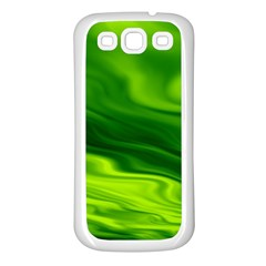 Green Samsung Galaxy S3 Back Case (white)