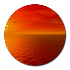 Sunset 8  Mouse Pad (round)