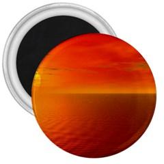 Sunset 3  Button Magnet
