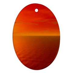 Sunset Oval Ornament