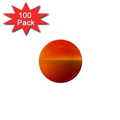 Sunset 1  Mini Button Magnet (100 Pack)