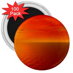 Sunset 3  Button Magnet (100 Pack)