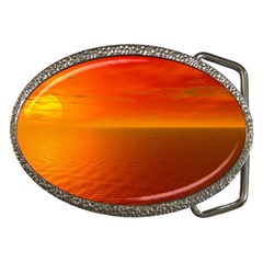 Sunset Belt Buckle (oval)
