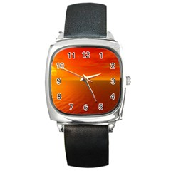Sunset Square Leather Watch