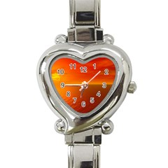 Sunset Heart Italian Charm Watch