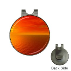 Sunset Hat Clip With Golf Ball Marker