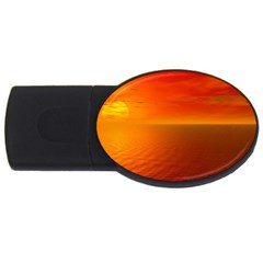 Sunset 4GB USB Flash Drive (Oval)
