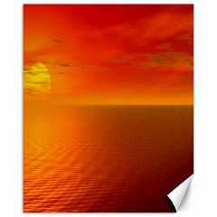 Sunset Canvas 16  x 20  (Unframed)