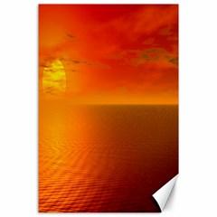 Sunset Canvas 24  X 36  (unframed)