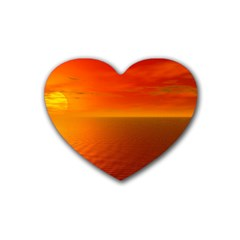 Sunset Drink Coasters 4 Pack (Heart)