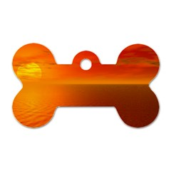 Sunset Dog Tag Bone (one Sided)