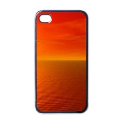 Sunset Apple Iphone 4 Case (black)