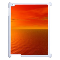 Sunset Apple iPad 2 Case (White)