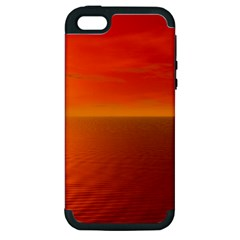 Sunset Apple Iphone 5 Hardshell Case (pc+silicone)