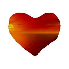 Sunset 16  Premium Heart Shape Cushion