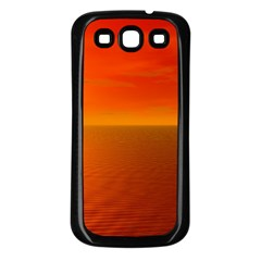 Sunset Samsung Galaxy S3 Back Case (Black)