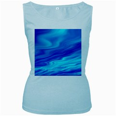 Blue Womens  Tank Top (Baby Blue)