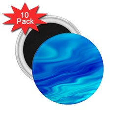 Blue 2.25  Button Magnet (10 pack)