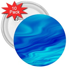 Blue 3  Button (10 pack)
