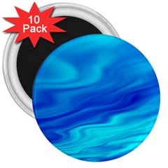 Blue 3  Button Magnet (10 Pack)