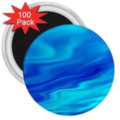 Blue 3  Button Magnet (100 Pack)