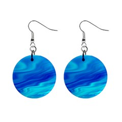 Blue Mini Button Earrings