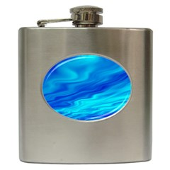 Blue Hip Flask