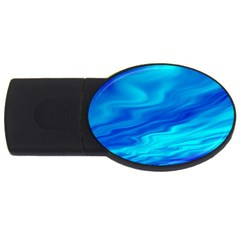 Blue 2gb Usb Flash Drive (oval)
