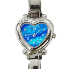 Blue Heart Italian Charm Watch