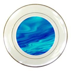 Blue Porcelain Display Plate