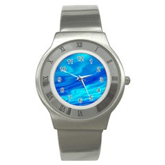 Blue Stainless Steel Watch (Unisex)