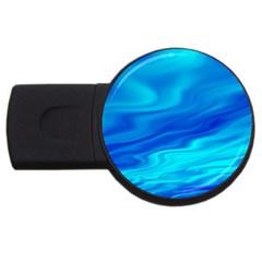 Blue 4GB USB Flash Drive (Round)