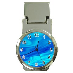 Blue Money Clip With Watch